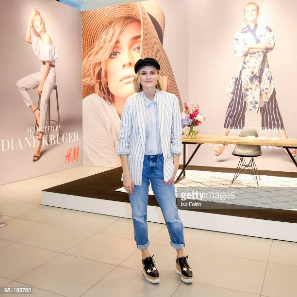 Actress Diane Kruger poses during the 'HM Selected by Diane Kruger' collection launch at Mall of Berlin on April 25 2018 in Berlin Germany