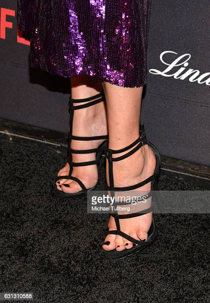 Actress Diane Kruger shoe detail attends the 2017 Weinstein Company And Netflix Golden Globes After Party on January 8 2017 in Los Angeles California
