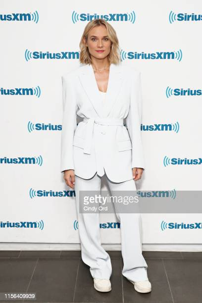 Actress Diane Kruger visits the SiriusXM Studios on July 18, 2019 in New York City.