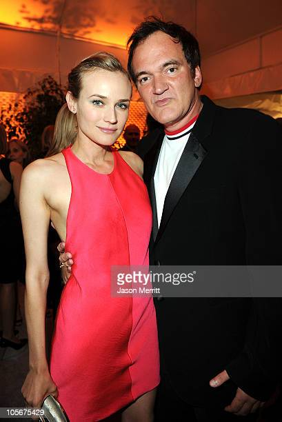 Actress Diane Kruger wearing Calvin Klein Collection and director Quentin Tarantino attend ELLE's 17th Annual Women in Hollywood Tribute at The Four...