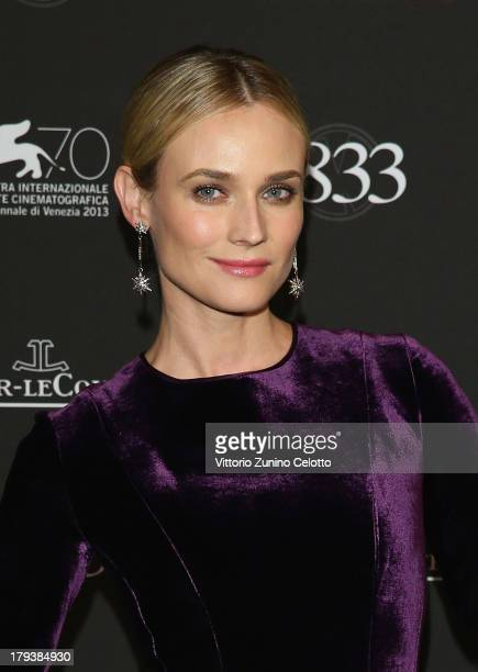 Actress Diane Kruger wears a JaegerLeCoultre watch during a gala dinner hosted by JaegerLeCoultre celebrating its 180th Anniversary at Teatro La...