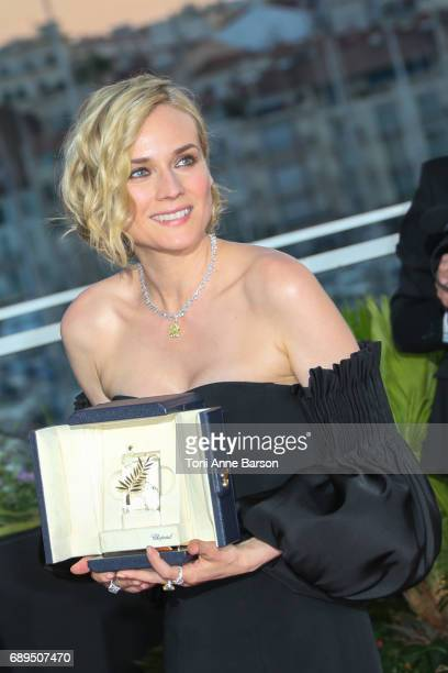 Actress Diane Kruger who won the award for best actress for her part in the movie 'In The Fade' attends the winners photocall during the 70th annual...