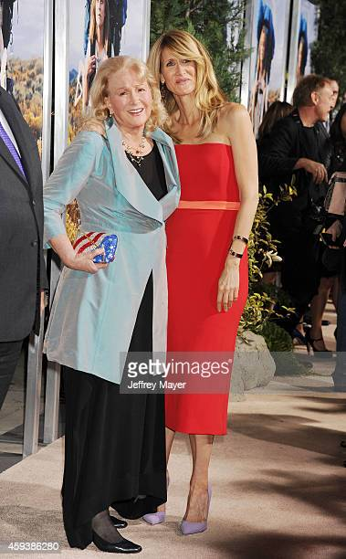 Actress Diane Ladd and daughter/actress Laura Dern arrive at the Los Angeles premiere of 'Wild' at AMPAS Samuel Goldwyn Theater on November 19 2014...
