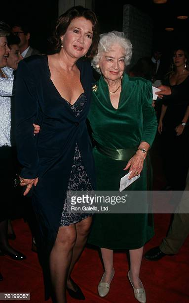Actress Diane Ladd and mother Mary Lanier attending the premeire of Rambling Rose on September 19 1991 at Mann National Theater in Westwood California