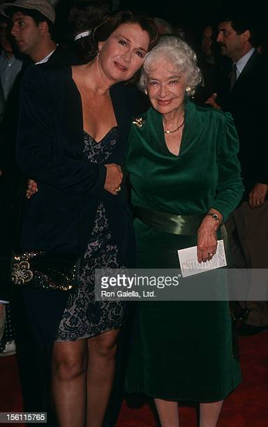 Actress Diane Ladd and mother Mary Lanier attending the premiere of 'Rambling Rose' on September 19 1991 at Mann National Theater in Westwood...