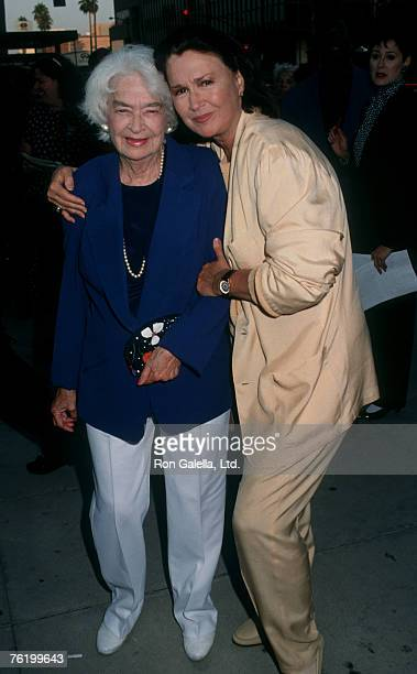 Actress Diane Ladd and mother Mary Lanier attending the premiere of Sarafina on June 18 1992 at the Academy Theater in Beverly Hills California