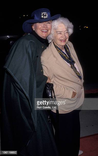 Actress Diane Ladd and mother Mary Lanier attending the screening of 'Heaven and Earth' on December 16 1993 at the Academy Theater in Beverly Hills...