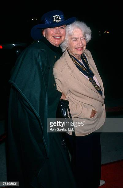 Actress Diane Ladd and mother Mary Lanier attending the screening of Heaven and Earth on December 16 1993 at the Academy Theater in Beverly Hills...