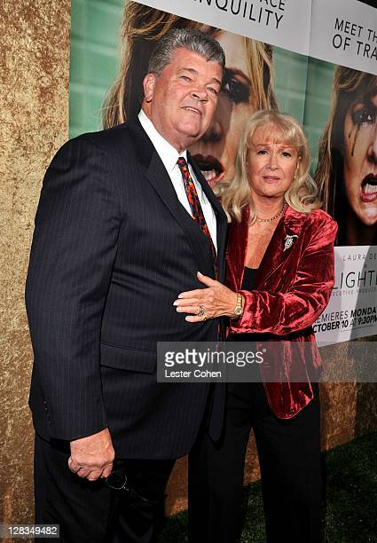 Actress Diane Ladd and William A Shea Jr arrives at HBO's Enlightened Los Angeles premiere at Paramount Theater on the Paramount Studios lot on...