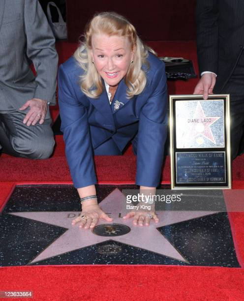 Actress Diane Ladd honored with Star on the Hollywood Walk of Fame on November 1 2010 in Hollywood California
