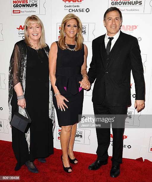 Actress Diane Ladd inventor Joy Mangano and director David O Russell attend the 15th annual Movies For Grownups Awards at the Beverly Wilshire Four...
