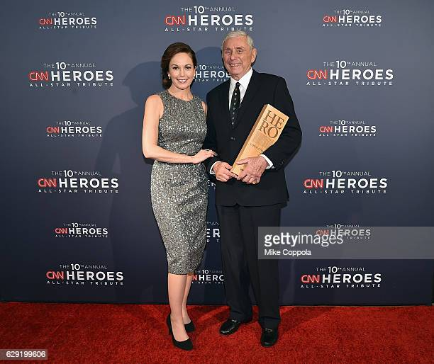 Actress Diane Lane and 2016 CNN Hero Harry Swimmer pose during the CNN Heroes Gala 2016 at the American Museum of Natural History on December 11 2016...