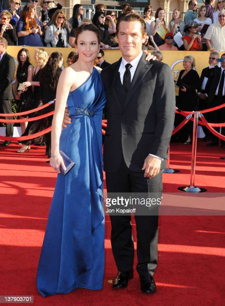 Actress Diane Lane and actor Josh Brolin arrive at the 18th Annual Screen Actors Guild Awards held at The Shrine Auditorium on January 29, 2012 in...