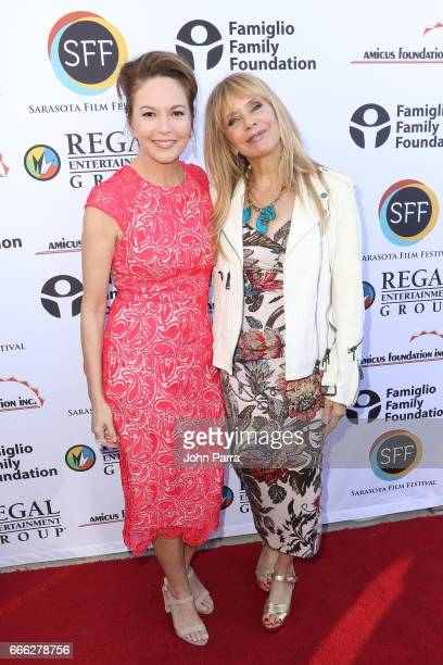 Actress Diane Lane and actress Rosanna Arquette arrive to the closing night ceremony and screening of 'Paris Can Wait' during the 2017 Sarasota Film...