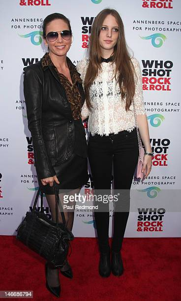 Actress Diane Lane and daughter Eleanor Lambert arrive at Who Shot Rock Roll A Photographic History 1955Present at Annenberg Space For Photography on...
