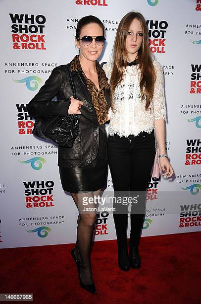 Actress Diane Lane and daughter Eleanor Lambert attend the opening of Who Shot Rock Roll A Photographic History 1955Present at Annenberg Space For...