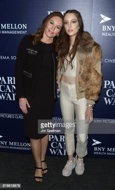 Actress Diane Lane and daughter Eleanor Lambert attend the Sony Pictures Classics' Paris Can Wait screening hosted by The Cinema Society BNY Mellon...
