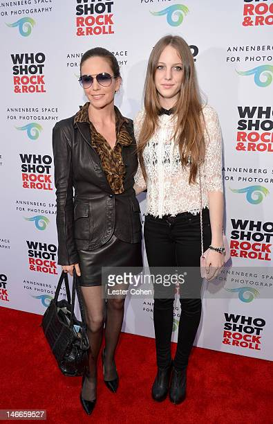 Actress Diane Lane and daughter Eleanor Lambert attend the Who Shot Rock Roll Opening Night VIP Reception at the Annenberg Space For Photography on...