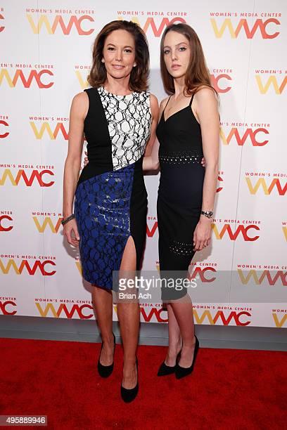 Actress Diane Lane and daughter Eleanor Lambert attend The Women's Media Center 2015 Women's Media Awards on November 5 2015 in New York City