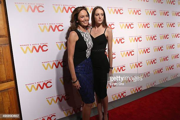 Actress Diane Lane and Eleanor Lambert attend The Women's Media Center 2015 Women's Media Awards on November 5 2015 in New York City