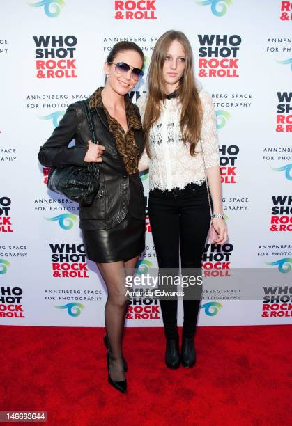 Actress Diane Lane and her daughter Eleanor Lambert arrive at the opening night party for Who Shot Rock Roll A Photographic History 1955Present at...