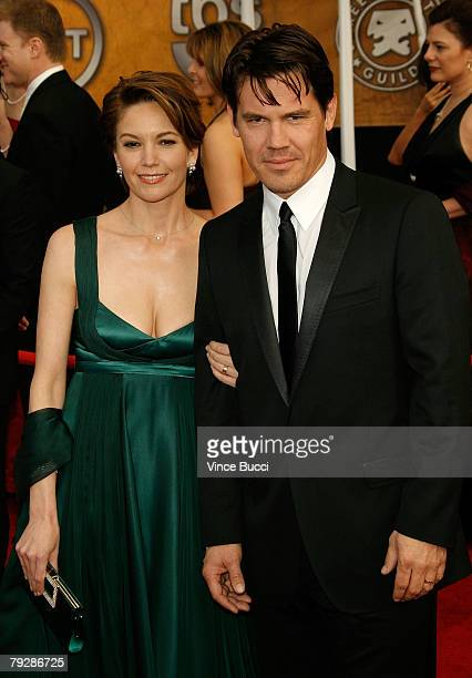 Actress Diane Lane and Husband Actor Josh Brolin arrive at the 14th annual Screen Actors Guild awards held at the Shrine Auditorium on January 27,...