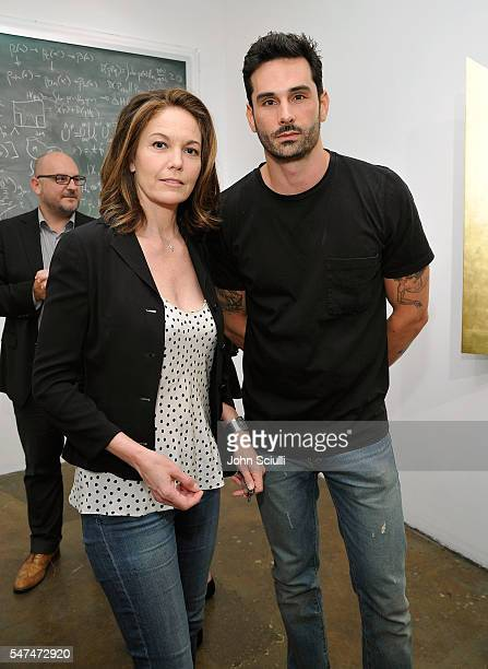 Actress Diane Lane and Landon Ross artist attend Landon Ross ARTIfACT exhibition opening at LAXART on July 14 2016 in Los Angeles California