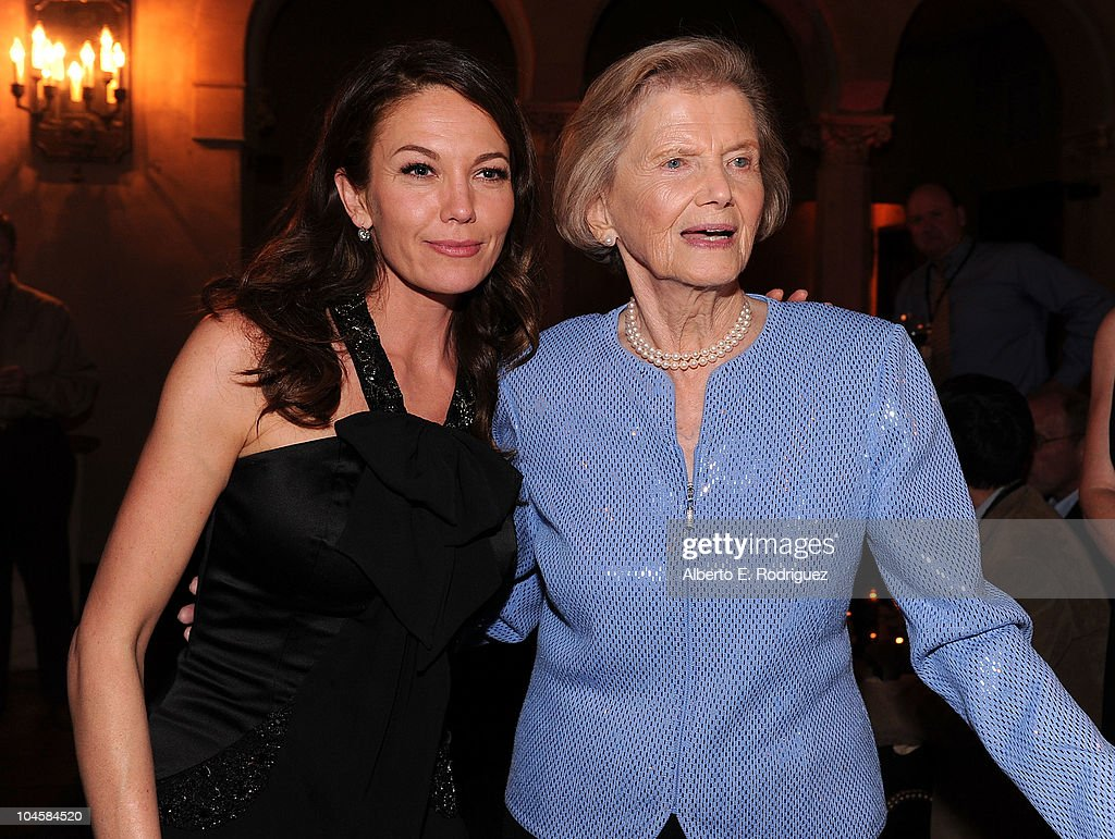 Actress Diane Lane (L) and Penny Chenery attend the premiere of Walt Disney Pictures' 'Secretariat' after party at the on September 30, 2010 in Hollywood, California.