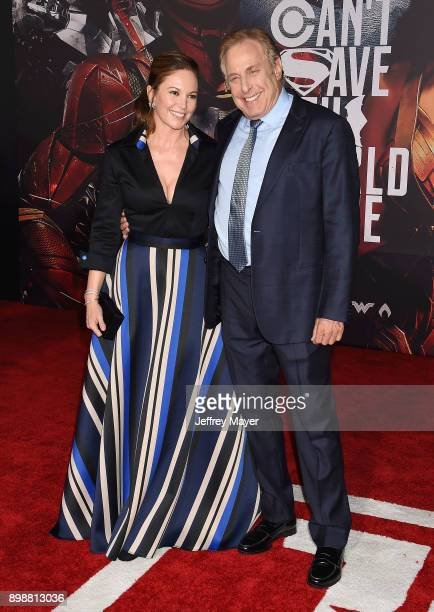 Actress Diane Lane and producer Charles Roven arrive at the premiere of Warner Bros Pictures' 'Justice League' at the Dolby Theatre on November 13...