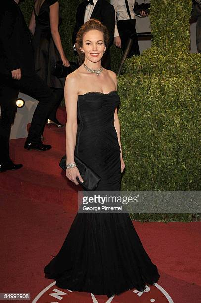 Actress Diane Lane arrives at the 2009 Vanity Fair Oscar Party Hosted By Graydon Carter at the Sunset Tower on February 22 2009 in West Hollywood...