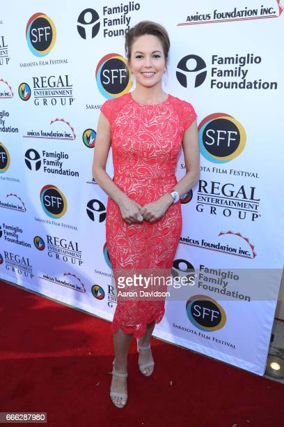Actress Diane Lane arrives to the closing night ceremony and screening of 'Paris Can Wait' during the 2017 Sarasota Film Festival on April 8 2017 in...