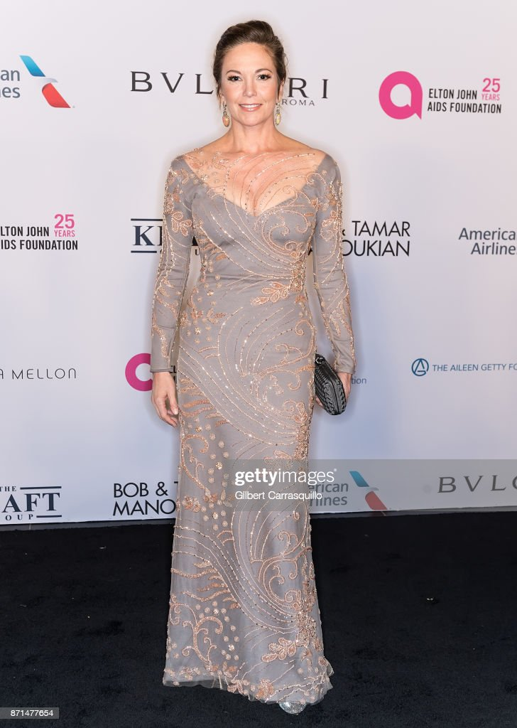 Actress Diane Lane attends as the Elton John AIDS Foundation commemorates its 25th year and honors founder Sir Elton John during the New York Fall Gala at Cathedral of St. John the Divine on November 7, 2017 in New York City.