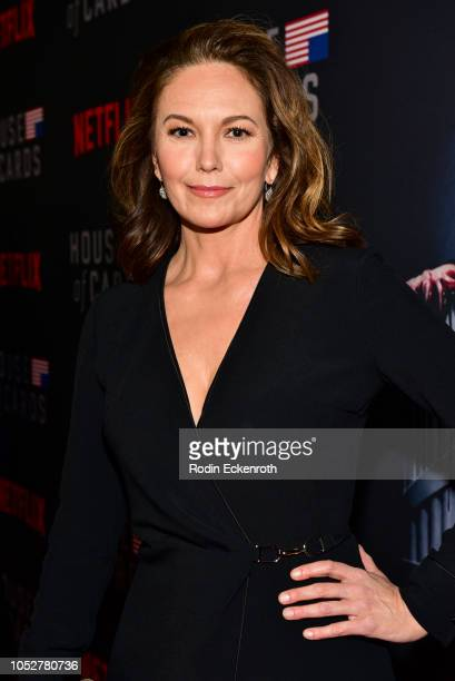 Actress Diane Lane attends the Los Angeles premiere screening of Netflix's House of Cards Season 6 at DGA Theater on October 22 2018 in Los Angeles...