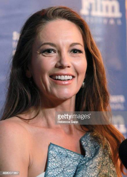 Actress Diane Lane attends the Modern Master Award to Bruce Dern at the 29th Santa Barbara International Film Festival at the Arlington Theatre on...
