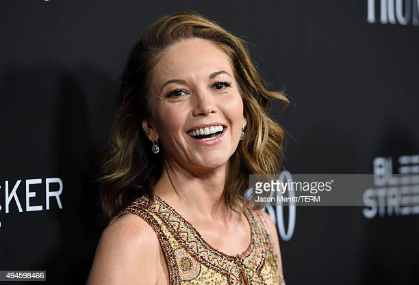 "Actress Diane Lane attends the premiere of Bleecker Street Media's ""Trumbo"" at Samuel Goldwyn Theater on October 27, 2015 in Beverly Hills,..."