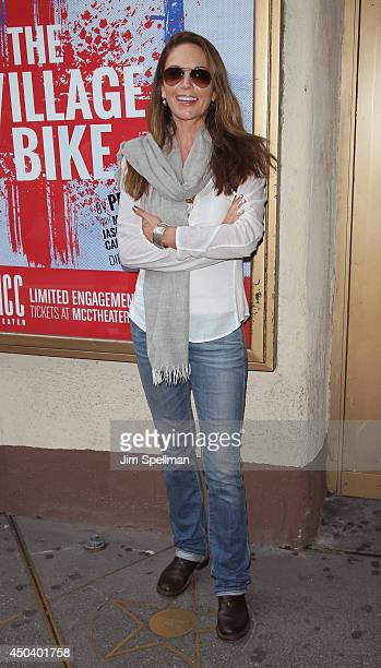 Actress Diane Lane attends the The Village Bike Opening Night at Lucille Lortel Theatre on June 10 2014 in New York City