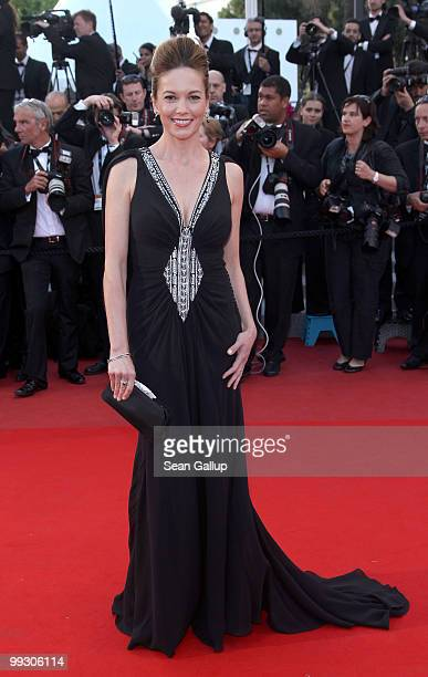 Actress Diane Lane attends the 'Wall Street Money Never Sleeps' Premiere at the Palais des Festivals during the 63rd Annual Cannes Film Festival on...