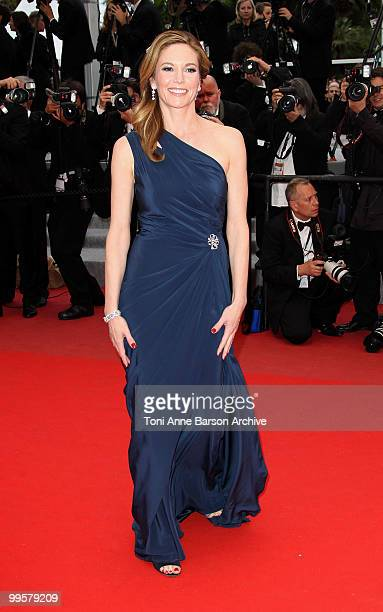 Actress Diane Lane attends the 'You Will Meet A Tall Dark Stranger' Premiere held at the Palais des Festivals during the 63rd Annual International...