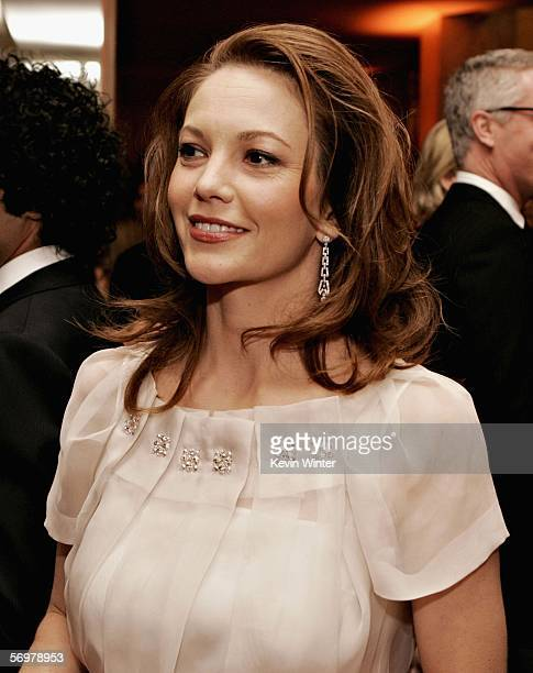 Actress Diane Lane POses during the EIF's Women's Cancer Research Fund honoring Melissa Etheridge at Saks Fifth Avenue's Unforgettable Evening on...