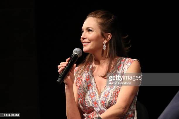 Actress Diane Lane speaks on stage during a Q and A at the closing night ceremony and screening of 'Paris Can Wait' during the 2017 Sarasota Film...
