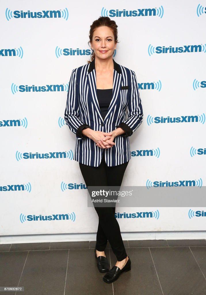 Actress Diane Lane visits the SiriusXM Studios on November 6, 2017 in New York City.