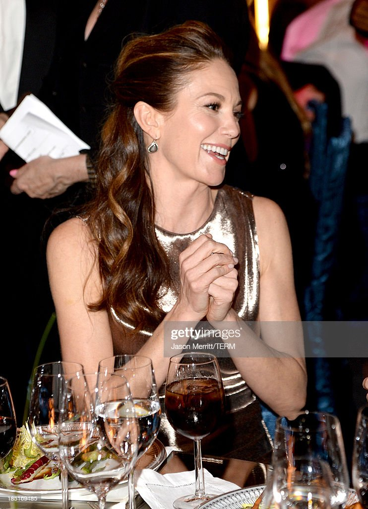 Actress Diane Lane, wearing Ferragamo, attends the Wallis Annenberg Center for the Performing Arts Inaugural Gala presented by Salvatore Ferragamo at the Wallis Annenberg Center for the Performing Arts on October 17, 2013 in Beverly Hills, California.