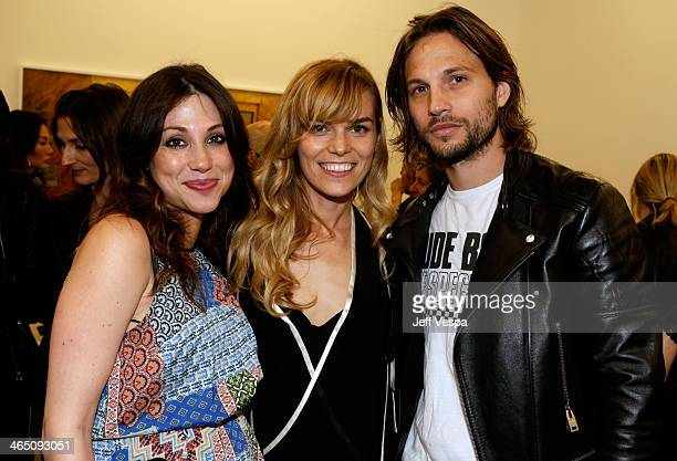 Actress Diane MarshallGreen Photographer Alex Prager and actor Logan MarshallGreen attend Alex Prager Face In The Crowd Exhibition Opening Night...