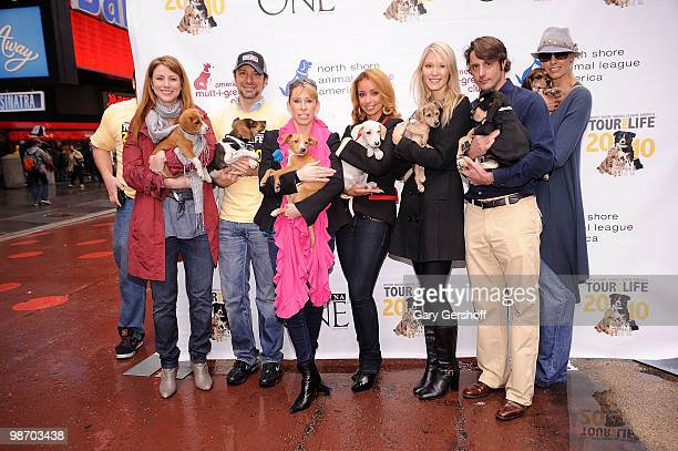 Actress Diane Neal, celebrity dog groomer, Jorge Bendersky, celebrity dentist Jennifer Jablow, Tour For Life spokesperson Mya, actress/model Jen...