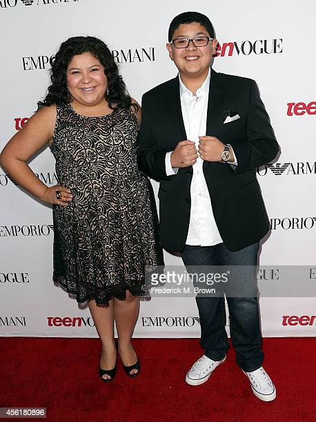 Actress Diane Rodriguez and Rico Rodriguez attend the Teen Vogue Young Hollywood Party on September 26 2014 in Los Angeles California