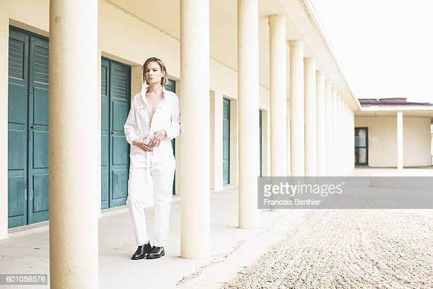Actress Diane Rouxel is photographed for Self Assignment on September 6 2016 in Deauville France