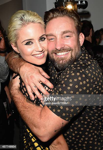 Actress Dianna Agron and photographer Brian Bowen Smith attend the Brian Bowen Smith WILDLIFE show hosted by Casamigos Tequila at De Re Gallery on...