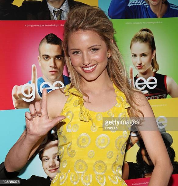 """Actress Dianna Agron arrives at """"Glee"""" - Los Angeles Premiere Event at Santa Monica High School on May 11, 2009 in Santa Monica, California."""