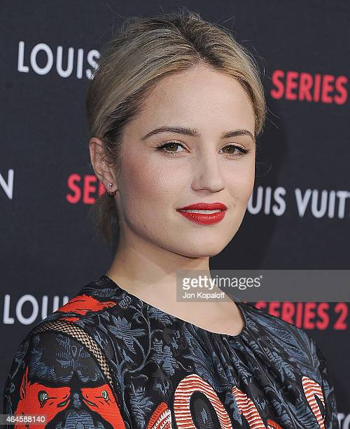 Actress Dianna Agron arrives at Louis Vuitton Series 2 The Exhibition on February 5 2015 in Hollywood California