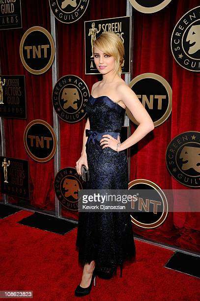 Actress Dianna Agron arrives at the 17th Annual Screen Actors Guild Awards held at The Shrine Auditorium on January 30 2011 in Los Angeles California